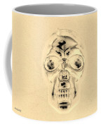 Skull In Sepia Coffee Mug