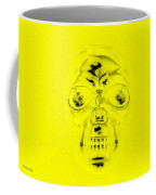 Skull In Yellow Coffee Mug