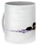 Snorkelling Sideways In The Lagoon Coffee Mug