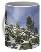 Snow Covered Cliffs And Trees II Coffee Mug