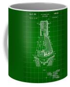 Space Capsule Patent 1959 - Green Coffee Mug