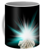 Spiritual Light In Cupped Hands On A Black Background Coffee Mug