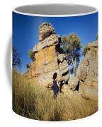 Split Rocks With Woman Coffee Mug