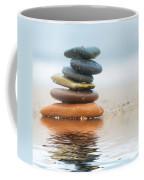 Stack Of Beach Stones On Sand Coffee Mug