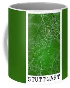 Stuttgart Street Map - Stuttgart Germany Road Map Art On Colored Coffee Mug