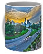 Sun Setting Over Charlotte North Carolina A Major Metropolitan C Coffee Mug