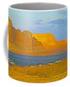Sunset Glow Over Wahweap Bay In Lake Powell In Glen Canyon National Recreation Area-arizona Coffee Mug