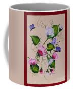 Sweet Peas And Butterflies Coffee Mug