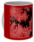 Sydney Street Map - Sydney Australia Road Map Art On Color Coffee Mug