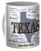 Texas State Pride Map Silhouette  Coffee Mug