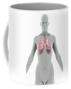 The Lungs Female Coffee Mug