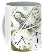 Time Is Money Concept Coffee Mug by Les Cunliffe