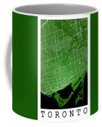 Toronto Street Map - Toronto Canada Road Map Art On Colored Back Coffee Mug
