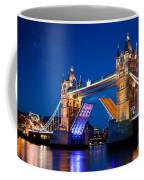 Tower Bridge In London Uk At Night Coffee Mug