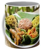 Traditional Vegetarian Curry With Rice In Bali Indonesia Coffee Mug