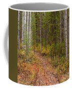 Trail In Golden Aspen Forest Coffee Mug