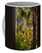 Tropical Forest Palm Trees In Sunlight Coffee Mug
