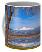 Twin Peaks Longs And Meeker Lake Reflection Coffee Mug
