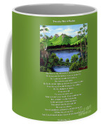 Twin Ponds And 23 Psalm On Green Coffee Mug
