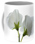 Two White Sweet Peas 2 Coffee Mug