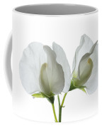 Two White Sweet Peas Coffee Mug