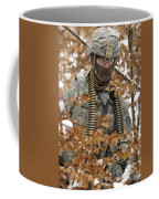 U.s. Army Soldier Conducts A Dismounted Coffee Mug