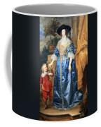 Van Dyck's Queen Henrietta Maria With Sir Jeffrey Hudson Coffee Mug