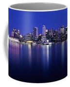 Vancouver Skyline At Night, British Coffee Mug