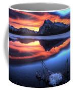 Vermillion Lakes Mount Rundle Coffee Mug