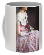 Victorian Woman Taking Tea Coffee Mug