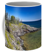 View Of Rock Harbor And Lake Superior Isle Royale National Park Coffee Mug