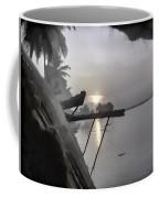View Of Sunrise From Boat Coffee Mug