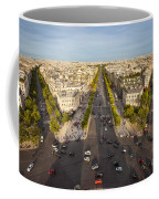 View Over Champs Elysees Coffee Mug