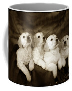 Vintage Festive Puppies Coffee Mug