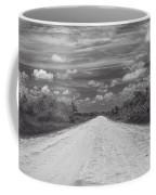 Wagon Wheel Road Bw Coffee Mug