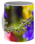 Water Drops On A Flower Stem Coffee Mug