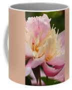 White And Pink Peony Coffee Mug
