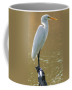 Magnolia White Heron Coffee Mug