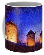 Windmills In Mykonos Island Coffee Mug