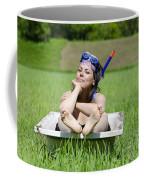 Woman Lying In A Bathtub Coffee Mug