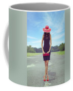 Woman On Street Coffee Mug