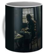 Woman Sewing Coffee Mug