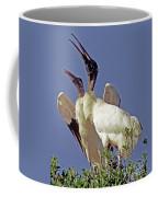 Wood Stork Courtship Display Coffee Mug