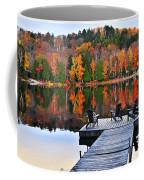 Wooden Dock On Autumn Lake Coffee Mug by Elena Elisseeva