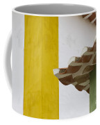 Yellow And Green Lines To The Roofs Coffee Mug
