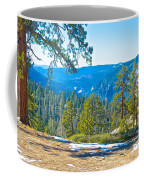 Yosemite Valley Mountainside From Sentinel Dome Trail In Yosemite Np-ca Coffee Mug