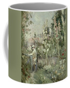 Young Boy In The Hollyhocks Coffee Mug