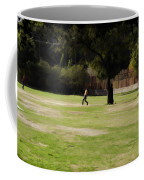 Young Boys Playing Cricket In A Park Near Delhi Zoo Coffee Mug