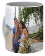 Young Couple Palm Tree Coffee Mug