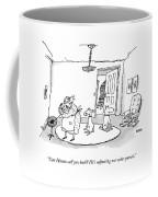 Can Hiram Call You Back? He's Adjusting Our Solar Coffee Mug
